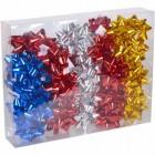 Набор бантов подарочных 6,5 см цветные 40 штук