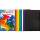 Цветной картон А4 двусторонний, 8 листов