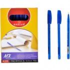 """Ручка """"MX"""" RADIUS тонированная 50 штук, синяя"""