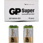 Батарейка GP 1604A-5UE1 щелочная 6LF22,6LR61 Alkaline Super (крона)