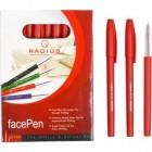 """Ручка """"FaсePen"""" RADIUS 50 штук, красная"""