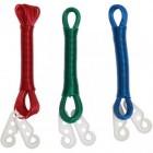 Бельевой шнур цветной с крючками 10м