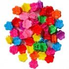 Заколка-крабик цветочек 100 штук 950
